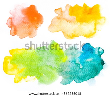 pink and blue watercolor stain with space for your text or quota Stock photo © SArts