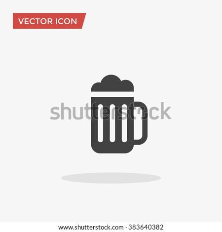 Vidro caneca cerveja ícone estilo longo Foto stock © ylivdesign
