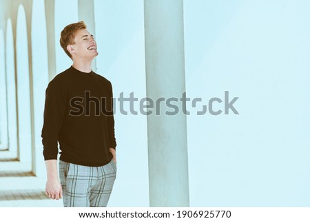 young handsome well groomed guy posing emotional on white background lifestyle people concept stock photo © iordani
