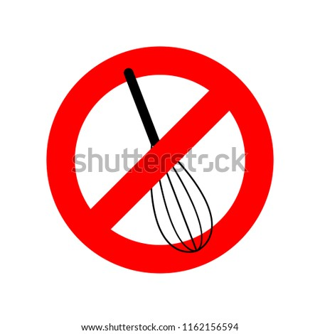 Stop Corolla kitchen utensils. Do not beat. Red prohibition sign Stock photo © MaryValery