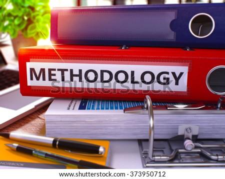 Methodology on Binder. Blurred Image. 3D. Stock photo © tashatuvango