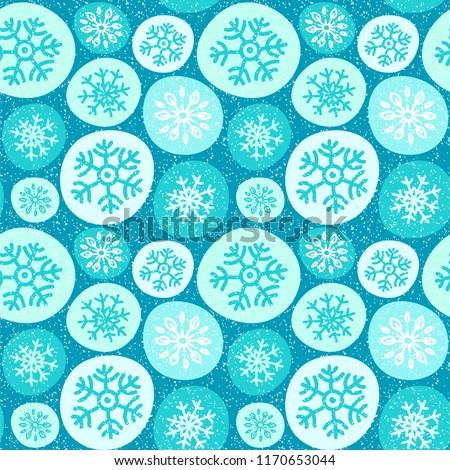 Bola de neve padrão inverno natal ano novo ornamento Foto stock © MaryValery