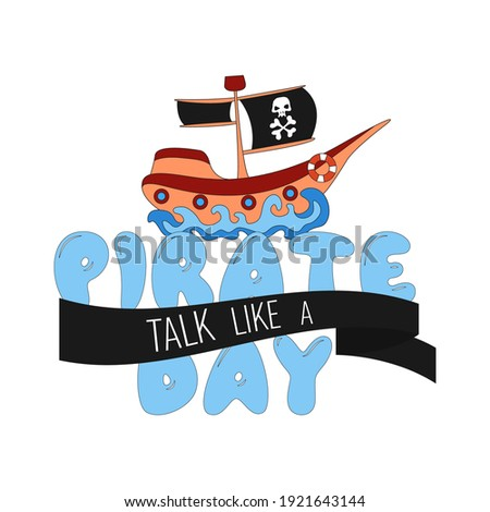 международных говорить подобно пиратских день черный Сток-фото © popaukropa