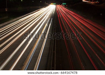 Interstate 405 at Sunset Bouledvard, Los Angeles County, California, USA Stock photo © IS2
