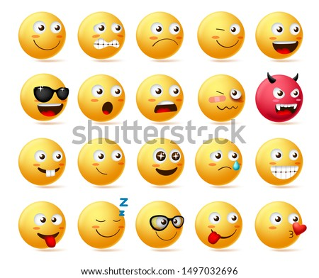Smiling Red Heart Cartoon Emoji Face Character Wearing Sunglasses Stock photo © hittoon