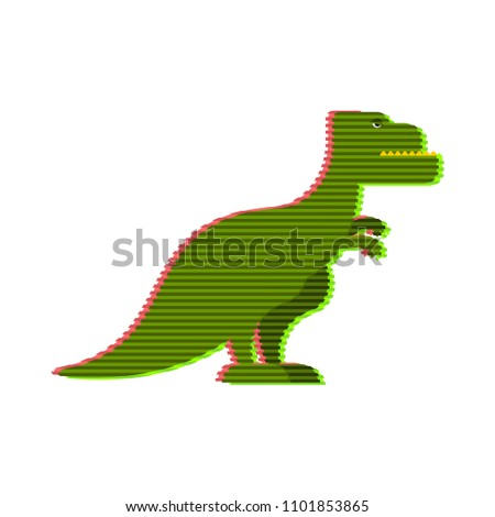 Halogram of dinosaur tyrannosaurus. Fantastic technology of futu Stock photo © popaukropa