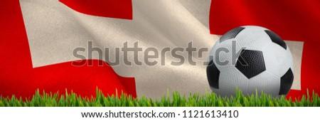 Gras groeiend buitenshuis digitaal gegenereerde vlag Stockfoto © wavebreak_media