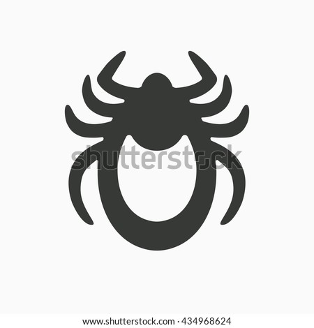 Bugs stop sign. parasite icon. Vector illustration of tick warning. Bug tick danger crossed sign vec Stock photo © kyryloff