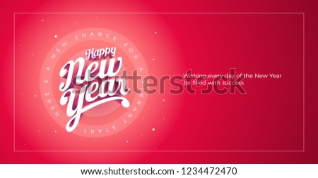 Feliz año nuevo vector 3D mano tipográfico Foto stock © sgursozlu