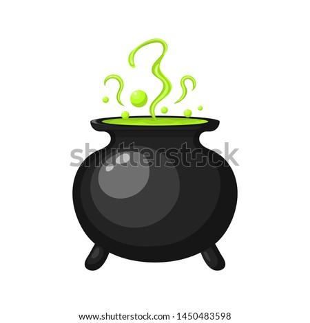 Cartoon · bruja · olla · tóxico · aislado · blanco - foto stock © lady-luck