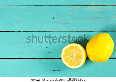 新鮮な 全体 オーガニック レモン 青 ストックフォト © artjazz