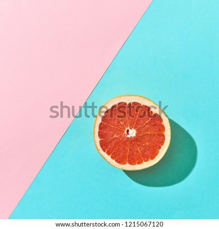 Sappig half citrus grapefruit karton exemplaar ruimte Stockfoto © artjazz