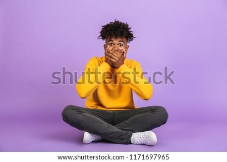 portrait · homme · mains · jeune · homme - photo stock © deandrobot