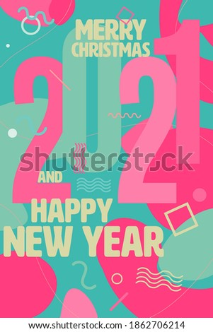 meetkundig · patroon · gelukkig · nieuwjaar · vrolijk · christmas - stockfoto © foxysgraphic
