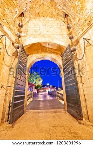 köteg · kapu · bejárat · történelmi · város · Dubrovnik - stock fotó © xbrchx