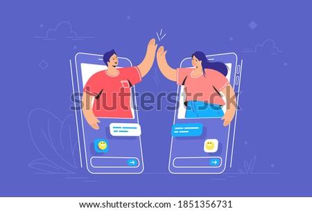 アイソメトリック ベクトル を メッセンジャー 携帯 ストックフォト © TarikVision