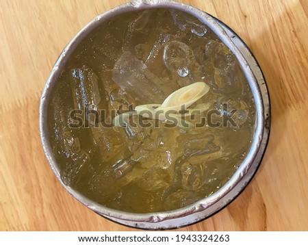 Vidrio limonada sosa beber blanco Foto stock © DenisMArt