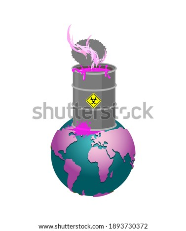 Pollution earth. Black planet. Poisonous waste. Environmental po Stock photo © MaryValery