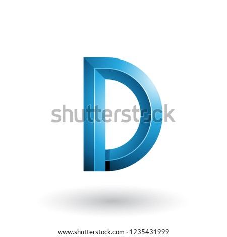 Blue Glossy and Bold 3d Geometrical Letter D Vector Illustration Stock photo © cidepix