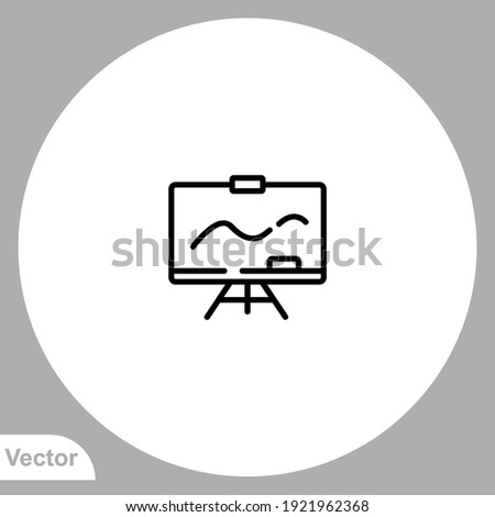 Stock photo: Screen Board Set Vector. Business, Education, School Display Board. Demonstration Frame. Isolated Ca