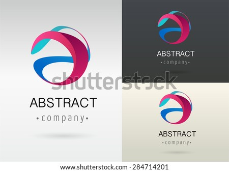 abstract logo circle business tech colorful vector icon symbol stock photo © blaskorizov
