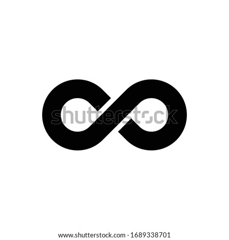 infinity sign icon, Vector illustration isolated on white background. Stock photo © kyryloff