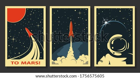 Color vintage space banner Stock photo © netkov1