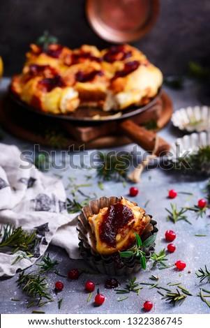 Kabak soğan kızılcık rustik stil Stok fotoğraf © zoryanchik
