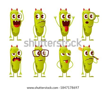Mosolyog zöld szörny rajzfilmfigura tart üres tábla Stock fotó © hittoon