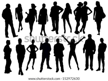 homem · mulher · cotidiano · isolado · branco - foto stock © pikepicture