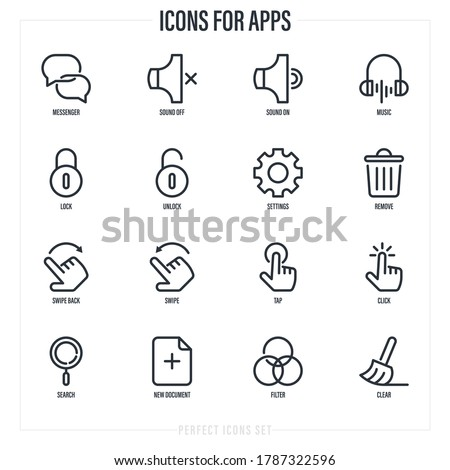 hand icon. touch screen locked icon. click symbol. vector illust stock photo © kyryloff