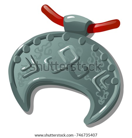 oude · zilver · symbool · vorm · half · maan - stockfoto © Lady-Luck