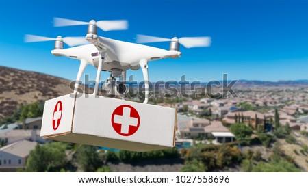 vliegtuigen · pakket · huis · hemel · home · technologie - stockfoto © feverpitch