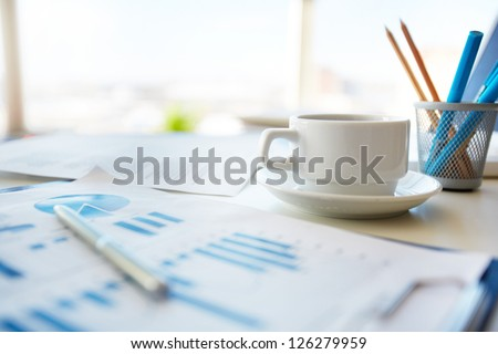 business · documenten · kantoor · tabel · grafiek · financiële - stockfoto © Freedomz