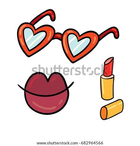 Forma de coração doce bastante lábios rosados perfeito lábio Foto stock © serdechny