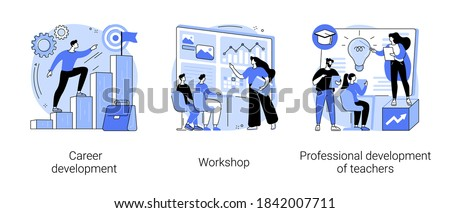 Professional development of teachers concept vector illustration Stock photo © RAStudio