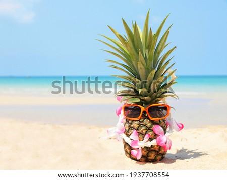 Genieten zomer roze zeester zonnebril Stockfoto © robuart