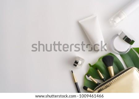 オーガニック 自然 化粧品 多くの ボトル ストックフォト © user_10144511