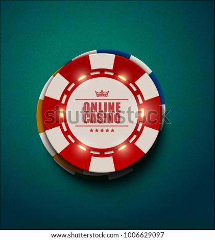 Vettore blu casino poker chip luce Foto d'archivio © Iaroslava