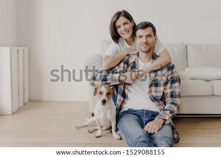 Boldog barna hajú nő férj szeretet jó hangulat Stock fotó © vkstudio