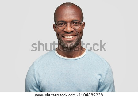 Horizontaal shot positief blij mannelijke emoties Stockfoto © vkstudio