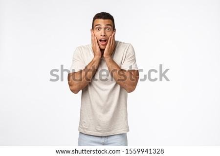 безмолвный молодые возбужденный человека что-то Сток-фото © benzoix