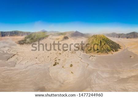 Antena shot wulkan parku jawa wyspa Zdjęcia stock © galitskaya