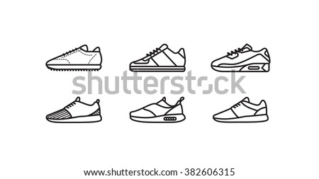 Sneaker Shoe Icon Vector Outline Illustration Stock photo © pikepicture