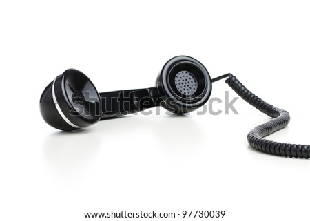 Business Telephone: Receiver off the Hook Isolated on White Back Stock photo © restyler