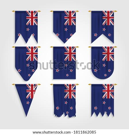 Vetor conjunto bandeira Nova Zelândia criador Foto stock © butenkow