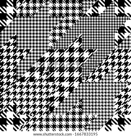 Black and white houndstooth seamless pattern Stock photo © evgeny89