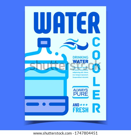 Water Cooler Equipment Creative Poster Vector Stock photo © pikepicture
