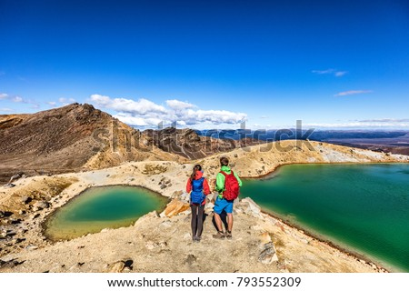 Wandelen wandelaar man New Zealand bergen alpine Stockfoto © Maridav