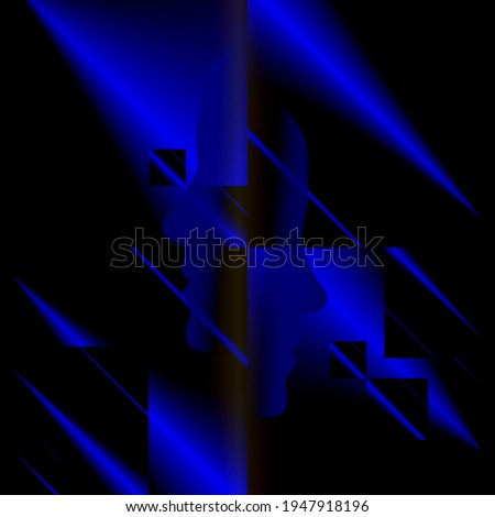 blue light beams from puzzle cube Stock photo © almagami